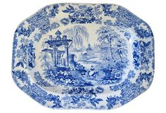 English Transferware Platter, C. 1840 on OneKingsLane.com  love...love