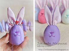 Funny Easter Bunny Eggs – a free tutorial on the topic: Toys ✓DIY ✓Steps-By-Step ✓With photos Bunny Crafts, Dyi Crafts, Crafts To Do, Easter Crafts, Crafts For Kids, Funny Easter Bunny, Easter Bunny Eggs, Spring Crafts, Holiday Crafts