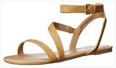 Call It Spring Women's Bellana Flat Sandal, Light Brown, 6 B US (*Partner Link)