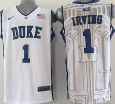 5103d7b80d3c Men s Duke Blue Devils IRVING Basketball Jersey NCAA Basketball Jersey for  Men  Names and numbers are sewed on jerseys. Football jersey for football  fans.