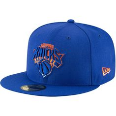New York Knicks New Era Logo Grade Structured Hat - Blue New York Knicks Logo, Nba New York, New Era Logo, Gucci Hat, New Era Fitted, New Era Hats, Clothing Logo, Hats For Sale, Cool Hats