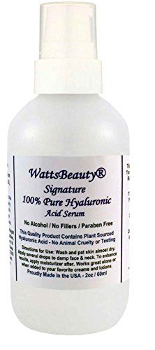 Watts Beauty Signature 100 Pure Hyaluronic Acid Wrinkle Serum  Best Hyaluronic Acid for Face  No Parabens  Perfect Plumping Moisturizer for Wrinkles Fine Lines Dry Aging Skin 2oz ** Learn more by visiting the image link.