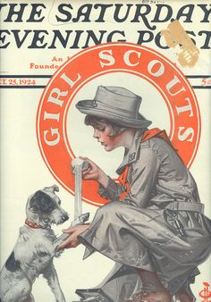 J. C. LEYENDECKER (1874-1951) | Saturday Evening Post, October 25, 1924 Girl Scout Cover | Flickr - Photo Sharing!