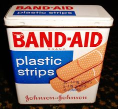 Band-Aid Plastic Strips 50 Count tin. CODE: 5624