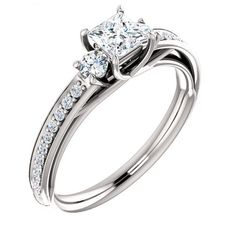 Comfort Fit Square Shape Semi Mount Bridal Wedding Ring - http://www.mybridalring.com/Rings/square-shape-semi-mount-ring/