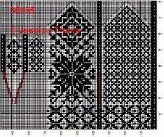 Crochet Mittens Free Pattern, Knit Mittens, Mitten Gloves, Knitting Socks, Knitting Charts, Knitting Patterns, Wrist Warmers, Filet Crochet, Craft Patterns
