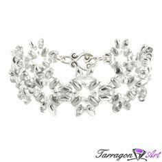 Bransoletka Beaded Elegance - Silver | Tarragon Art - stylowa biżuteria artystyczna