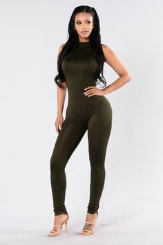 7f2d7a12c523 Stand By Me Jumpsuit - Dark Olive. Fitted Jumpsuit