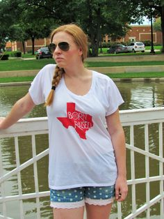 """If your a true Texan, you need our """"Born & Raised"""" Top! Get yours now!"""