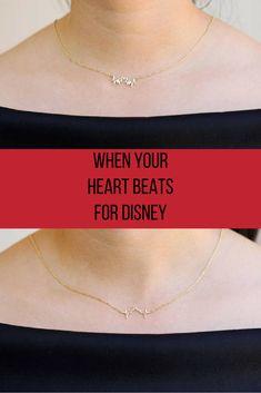 When your heart beats for Disney #Disney #Disneyland #Mickey #Castle #Disneyworld #MickeyMouse #ad #Necklace