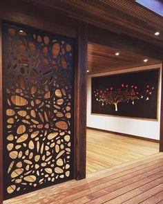 Wooden Screen Partition 37 Ideas For 2019 Decorative Screens, Wall Design, Decor, Metal Screen, Door Design, Room Divider Walls, Metal Tree Wall Art, Ceiling Design, Wooden Screen