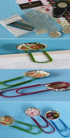 21 Mothers Day Crafts for Kids |  Simple Bottle Cap Bookmarks Using Oversized Paper Clips | Easy Crafts for Preschoolers