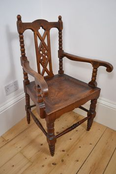 ANTIQUE 1800u0027s VICTORIAN OAK WOODEN WOOD ARM CHAIR SCOTTISH MADE | Antiques | Pinterest | Wood arm chair and Woods & ANTIQUE 1800u0027s VICTORIAN OAK WOODEN WOOD ARM CHAIR SCOTTISH MADE ...