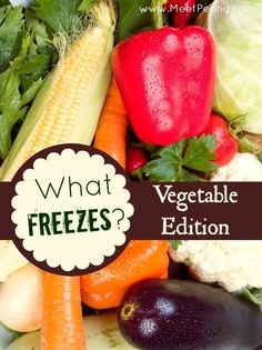 Long list of vegetables that you can freeze and how to do it.