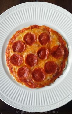 Easy Low Carb Tortilla Pizza (microwave + skillet)