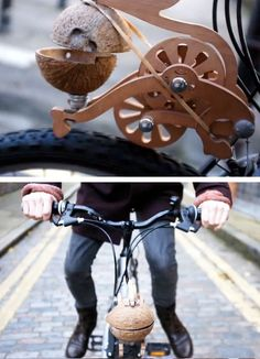 Trotify - a device that makes your bike sound like a galloping horse. See it in action here http://trotify.com. Cool.
