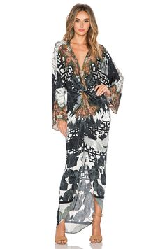 Shop for Camilla Twist Front Maxi Dress in Wanderlust at REVOLVE. Camilla Kaftan, Camilla Dress, Black And White Romper, Black White, Wrap Dress Floral, Wrap Dresses, Floral Romper, Beach Dresses, Maxi Dresses