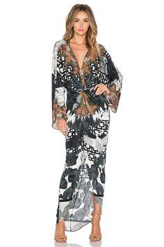 twist front maxi dress by Camilla
