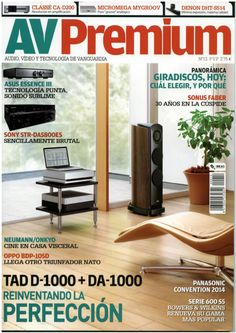 BASSOCONTINUO Reference Line model ACCORDEON: our rack was used on official TAD advertising pictures around the world / here the cover of the last Spanish AV Premium issue #bassocontinuo #racks #rad #hifi #hiend #hifidelity #avpremium #advertising #pioneer #japan #spain