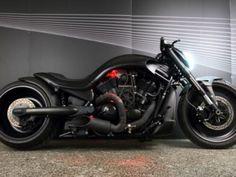 "Harley-Davidson V-Rod ""Black Widow"" by DreaMachines Custom Bikes Night Rod Custom, V Rod Custom, Custom Choppers, Custom Harleys, Custom Bikes, Harley Davidson Night Rod, Harley V Rod, Night Rod Special, Triumph Rocket"