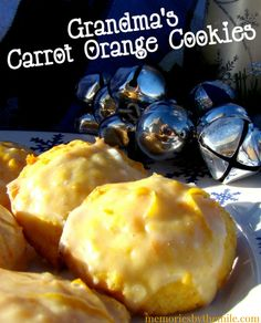 What are your favorite cookies? For me it's my Grandmas Carrot Orange Cookies. They are soft, moist, flavorful, and absolutely the best cookie ever!
