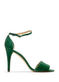 Mango SS 2012. Green ankle strap sandals