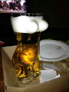 Beer glass for him.