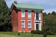 George Pinkney Morgan House.  George Pinkney Morgan House, also known as David Morgan Homeplace, is a historic home located at Rivesville, Marion County, West Virginia. It was built between 1857 and 1860, and is a two story, red brick farmhouse in the Greek Revival style. Also on the property is the Morgan Family Cemetery, with graves dating to the early 19th century. Its builder, George Pinkney Morgan, was an early Marion County coal developer, farmer, and inventor...