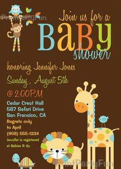 Baby Shower Invitations And Birthday Party Invites