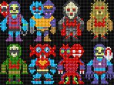 Lair of the Dork Horde: Lite Brite Brutes Lite Brite, Perler Bead Art, Perler Beads, Charts And Graphs, Perler Patterns, Vintage Cartoon, Knitting Charts, Beading Patterns, Pixel Art