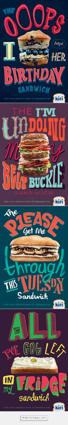 Kiri - Sandwich Moods on Behance... - a grouped images picture - Pin Them All