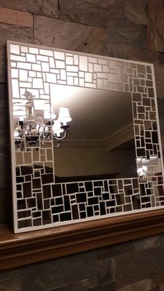 My work. Mosaic Tile Art, Mosaic Artwork, Mirror Mosaic, Mirror Tiles, Mosaic Glass, Stained Glass, Gallery Wall Bedroom, Diy Frame, Glass Design