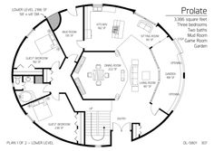 Cordwood round home floor plan