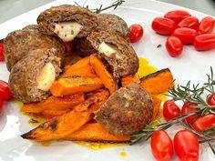 Τα μπιφτέκια γεμιστά με κασέρι και γλυκοπατάτες στο φούρνο, είναι μια πανέυκολη συνταγή που θα απογειώσει το μεσημεριανό σου!! Δοκίμασε την! Greek Recipes, Pot Roast, Ethnic Recipes, Food, Drink, Carne Asada, Roast Beef, Beverage, Essen