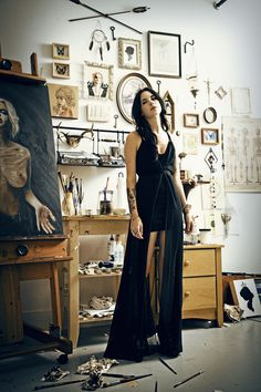 """In my studio"" Charmaine Olivia by photographer Eva Kolenko"