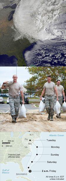 Preparations for Hurricane Sandy - October 2012