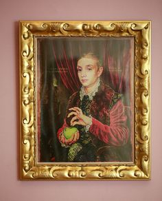 """Wes Anderson Grand Budapest Hotel """"Boy with Apple"""" painting in wedding photo booth"""