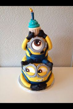 MINION CAKE!!! Oh Yes We Did It! Everyone Loves Minions And So Do We! This Happy Birthday Minion Cake Is One Of Our Very Favorite Cakes Ever! Please Like And Enjoy This Fabulous Cake By Today's Sweet Cakery
