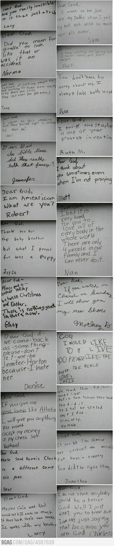 Kids were asked to write their prayers..