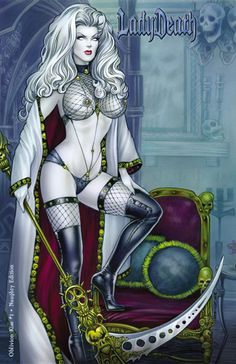LADY DEATH: OBLIVION KISS #1 - NAUGHTY EDITION (KICKSTARTER) Story: Brian Pulido, Mike MacLean Interiors: Dheeraj Verma, Sabine Rich Cover: Monte Moore