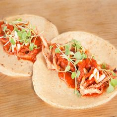 This Mexican beer infused octopus taco promises to be a crowd pleaser.