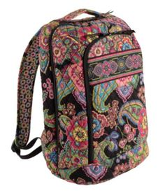 I want this!  Laptop Backpack | Vera Bradley  in Symphony in Hue.