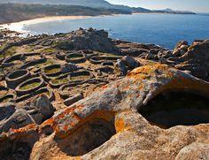 Castro de Baroña (ruinas poblado celta), Galicia, España
