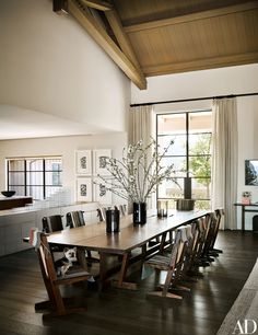Russell Groves Creates a Napa Valley Refuge for a Young Family - George Nakashima table and chairs!| Architectural Digest