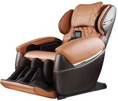 Electric Massage Space Capsule Relax The Back Body Massage Chair,Massage Chair Zero Gravity Full Body Shiatsu Recliner with Foot Rollers Massage,Brown