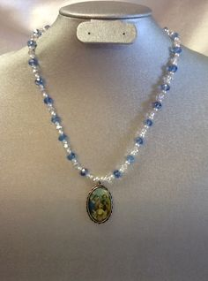 Holy Family Necklace made with Crystals and Faux Pearl - pinned by pin4etsy.com