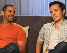 John Huertas and Seamus Dever from Castle. One of my favorite bromances on TV.
