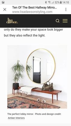 Amber Interiors, Your Space, Oversized Mirror, Make It Yourself, Furniture, Design, Home Decor, Homemade Home Decor, Home Furnishings