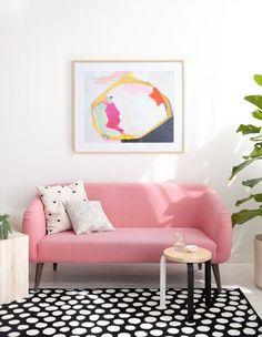 Cute pink sofa