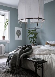 Gray and Blue Bedroom. Gray and Blue Bedroom. Grey and Dark Blue Bedroom Color Scheme Grey Bedroom Color Blue Grey Walls, Blue Bedroom Walls, Blue Gray Paint, Bedroom Paint Colors, Home Bedroom, Bedroom Decor, Bedroom Ideas, Grey Bedrooms, Blue Grey Paint Color